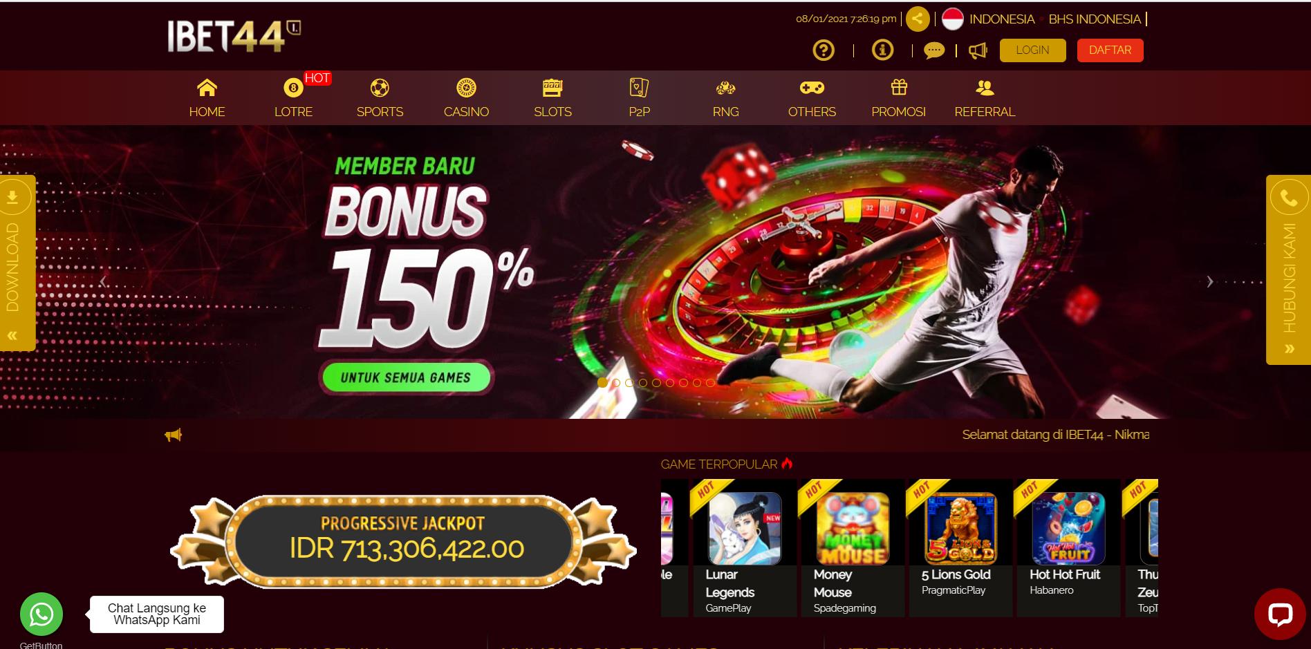 Indo Bookie Review - Situs Judi Slot dan Live Casino Terpercaya | Ibet44